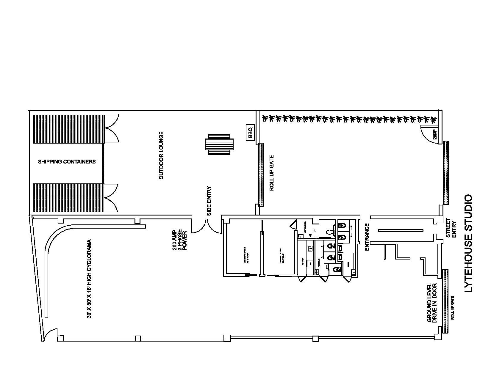 Photo frasier floor plan images 2d cad beauty salon for Photography studio floor plans